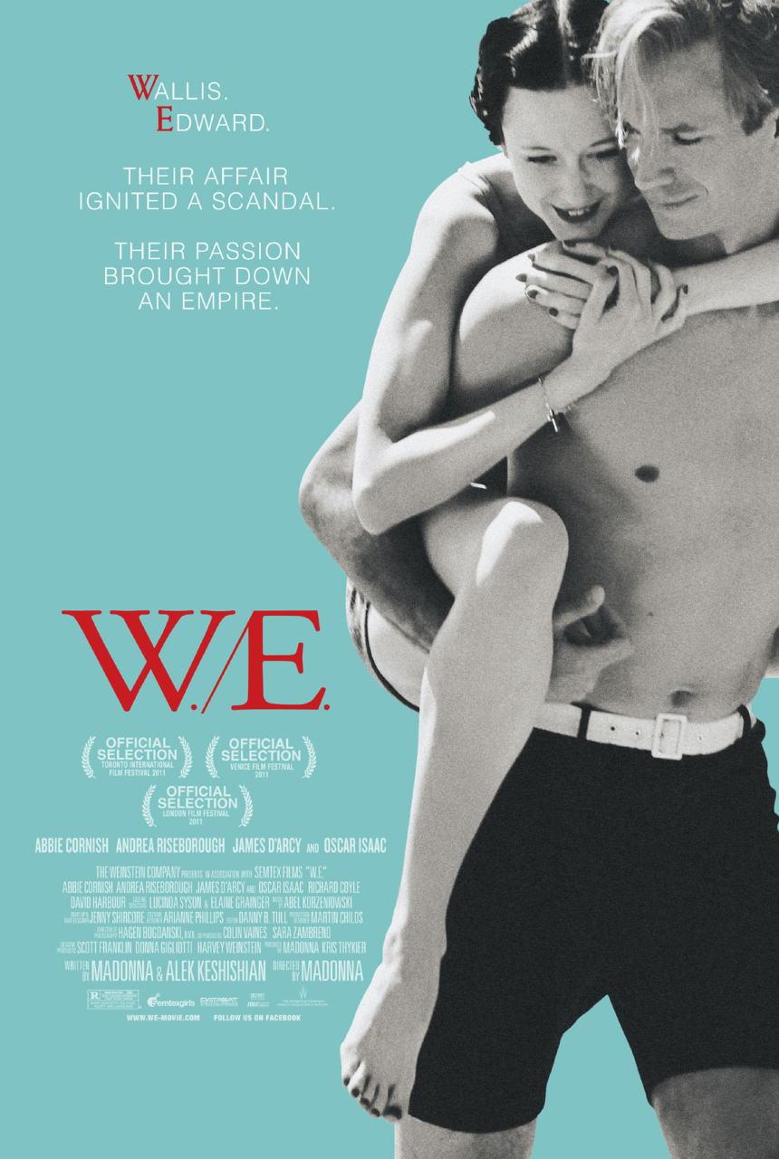 映画『ウォリスとエドワード 英国王冠をかけた恋 W.E.』ポスター(1) ▼ポスター画像クリックで拡大します。