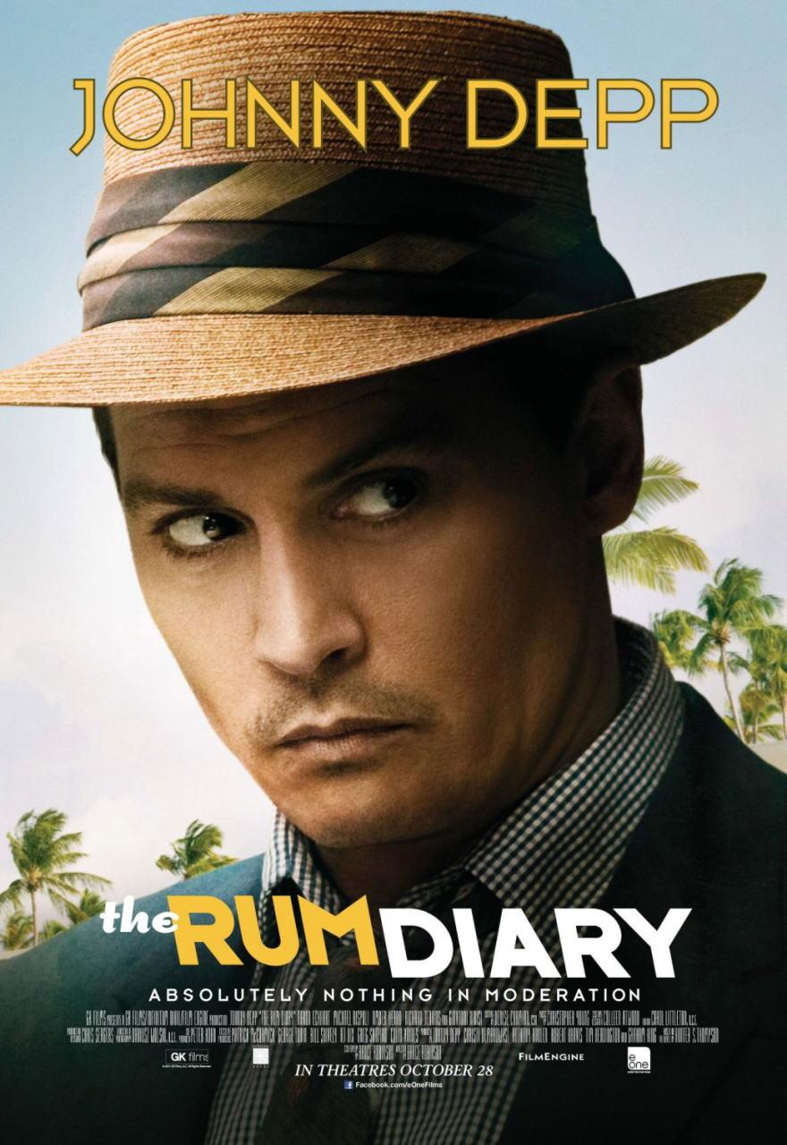 映画『ラム・ダイアリー THE RUM DIARY』ポスター(1)▼ポスター画像クリックで拡大します。