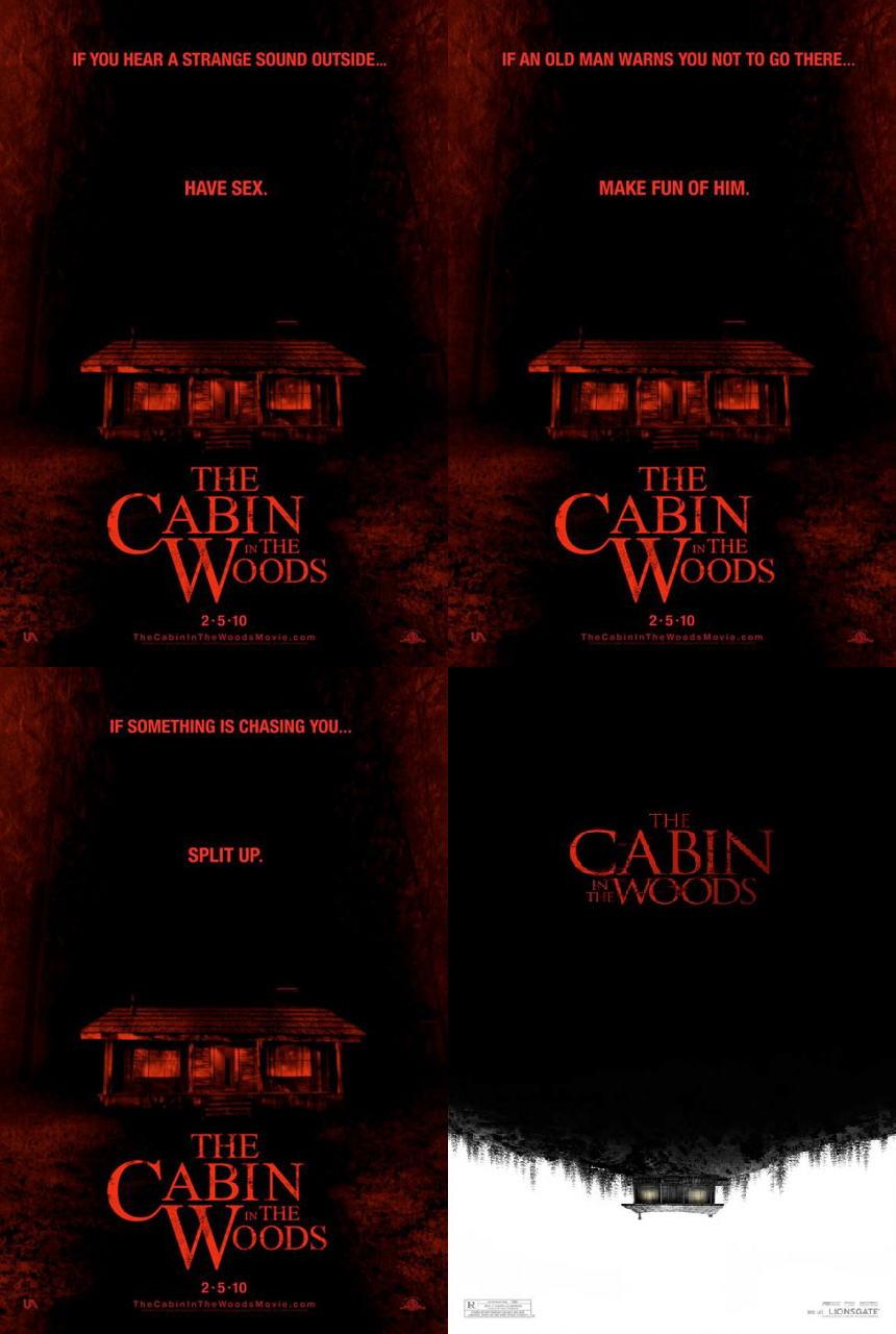 映画『キャビン THE CABIN IN THE WOODS』ポスター(3)▼ポスター画像クリックで拡大します。