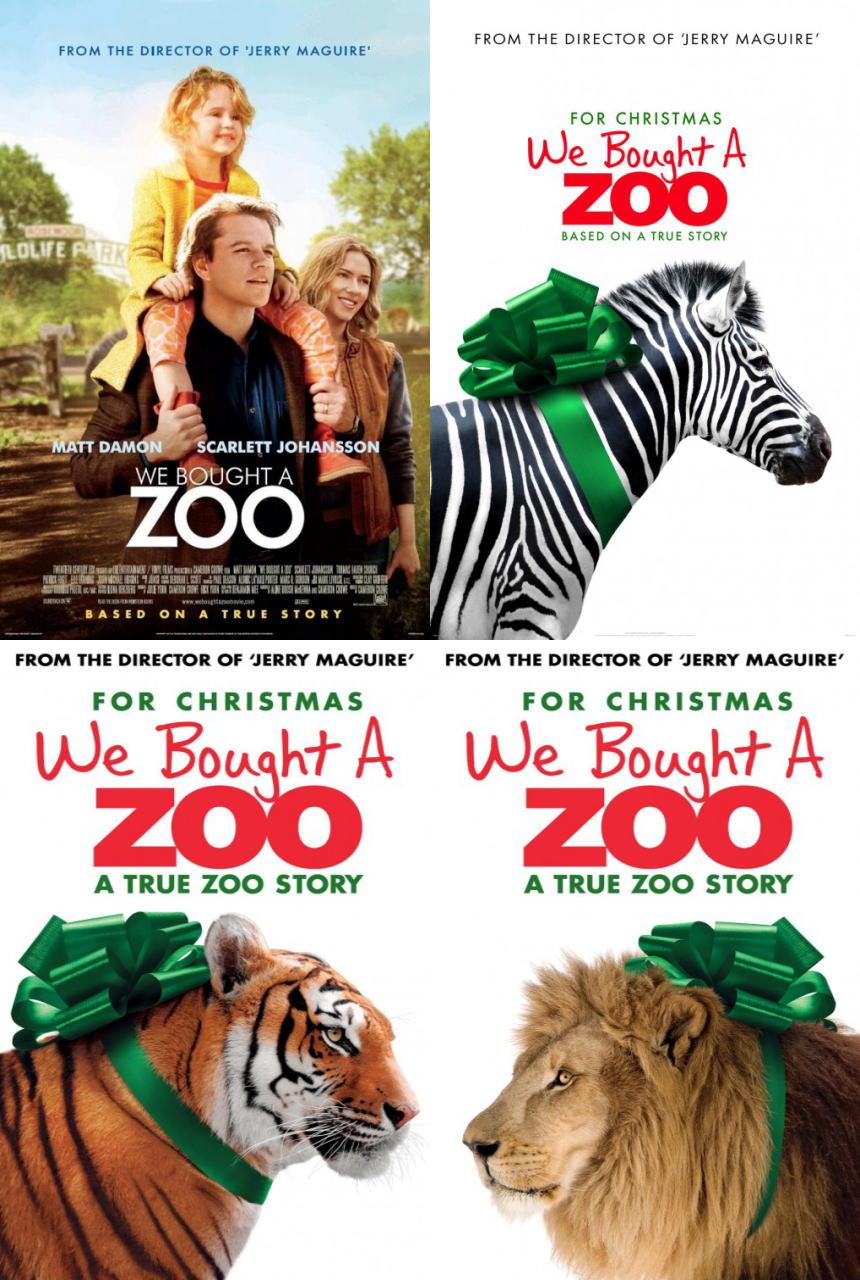 映画『幸せへのキセキ WE BOUGHT A ZOO』ポスター(3)▼ポスター画像クリックで拡大します。