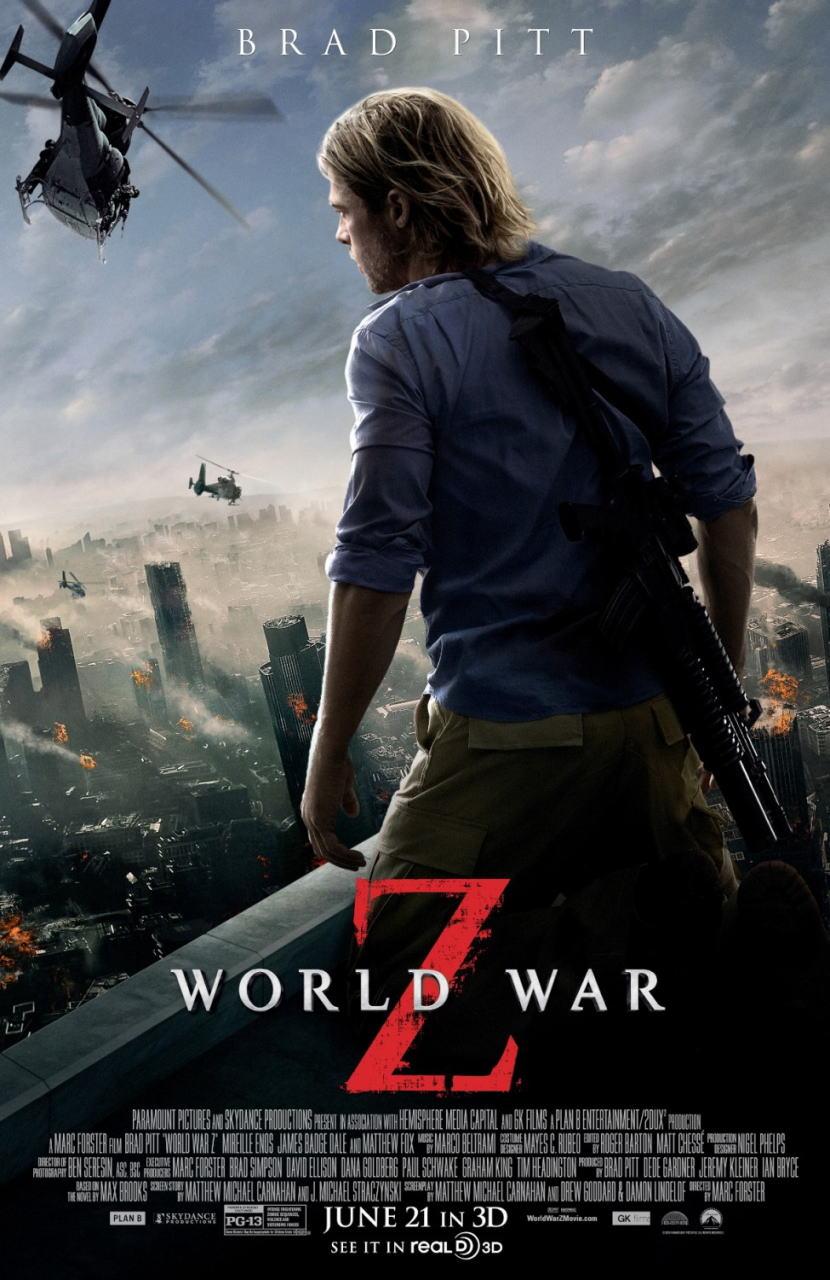 映画『ワールド・ウォーZ (2013) WORLD WAR Z』ポスター(2)▼ポスター画像クリックで拡大します。