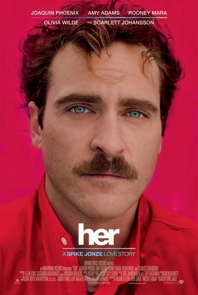 映画『her/世界でひとつの彼女 (2014) HER』ポスター(1) ▼ポスター画像クリックで拡大します。