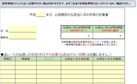 【競馬】国税庁に競馬の確定申告特設ページが登場