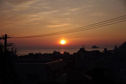 朝日が見えたっ!