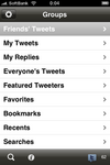 Twittelator menu