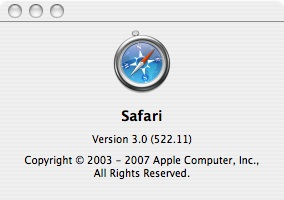 about Safari 3.0