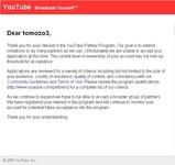 YouTubeパートナープログラム審査結果