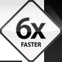MacBookは6倍高速