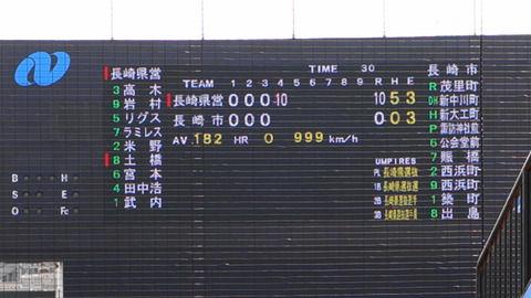 【画像】地方球場の電光掲示板のテスト表示がシュールな件