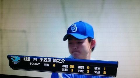 【悲報】中日・小笠原、二軍で大炎上・・・3回8失点