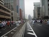 東京マラソンレース中