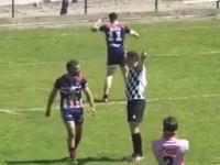 キレた選手が主審にグーパンチして一撃ノックアウト(°_°)さらに他の選手にも殴りかかる(ラグビー)