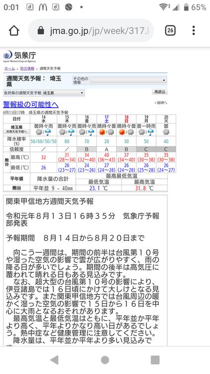 気象庁「あ、そうだ(唐突)17日最高気温40度だゾ」