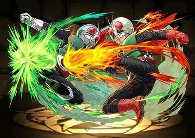 【パズドラ】仮面ライダー1号2号はクロユリループにイデアル入るし可能性の塊