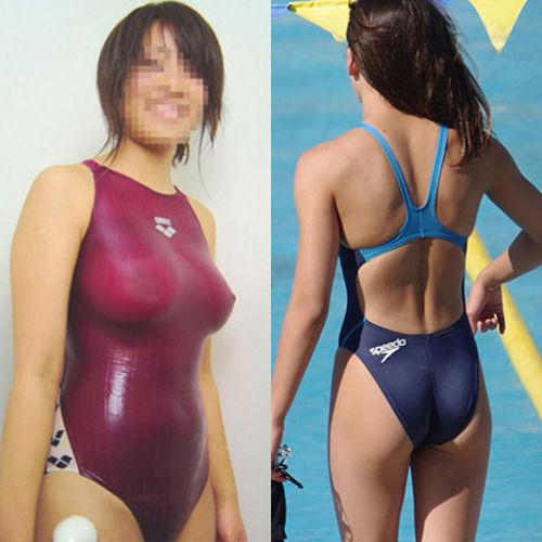 【激写】この水泳部JK、明らかにニップレス貼り忘れてるじゃん・・・