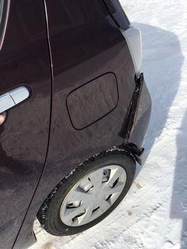 悲報!私、また事故って車を破壊するwww(※画像あり)