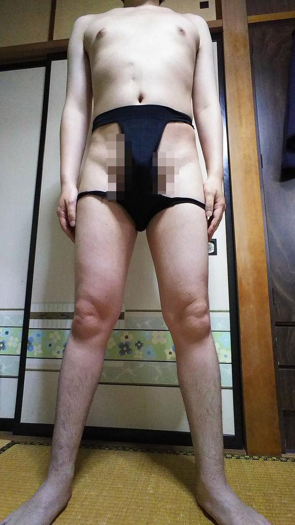 【画像】ボクサーパンツが暑いからサイドの布をカットしてみた