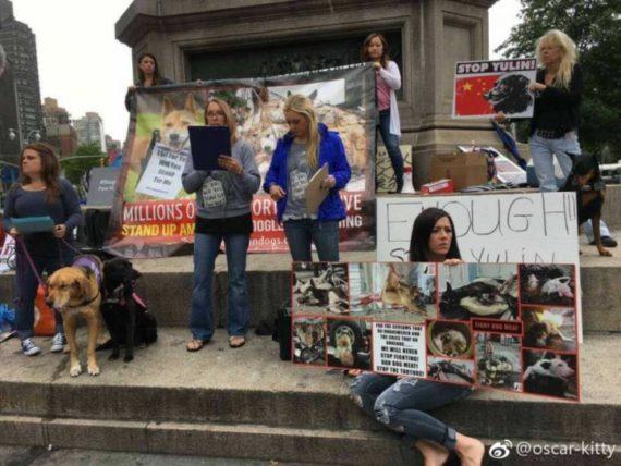 【米国】中国の「犬肉祭り」 米国活動家が中国領事館前で反対デモ!規制を要請