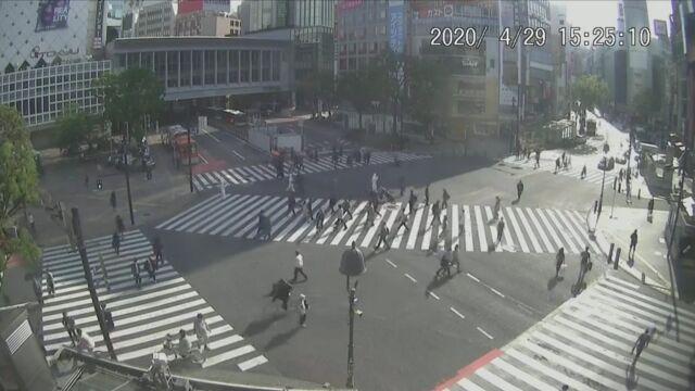 【悲報】東京、自粛解禁ムード 現在のスクランブル交差点がこれ