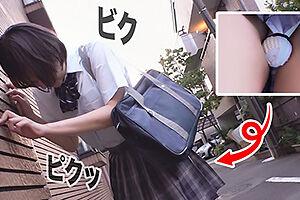 【素人】あゆみ(18) 新体操部のショートカットスポーツJK!リモコンバイブで羞恥全開の野外調教