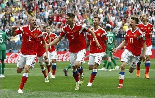 W杯開催国ロシア、サウジを5-0粉砕!ロシアW杯開幕戦を白星で飾る!ゴロヴィンが絶妙FKゴール!(関連まとめ)