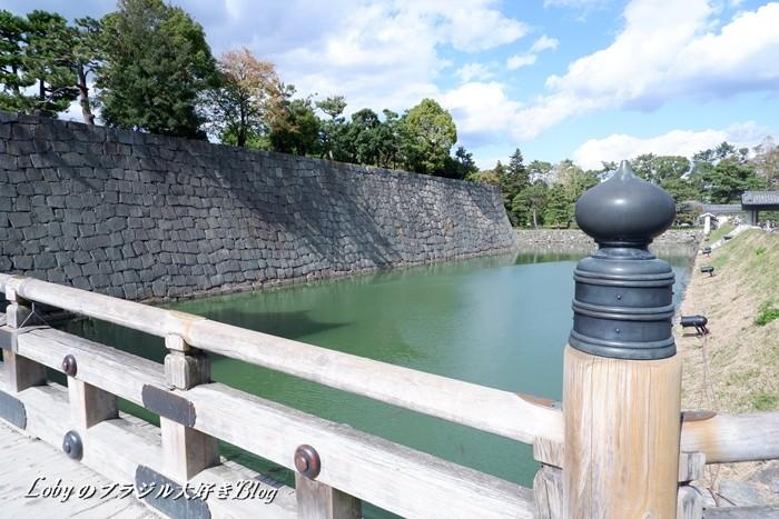 0-二条城-04本丸櫓門の堀