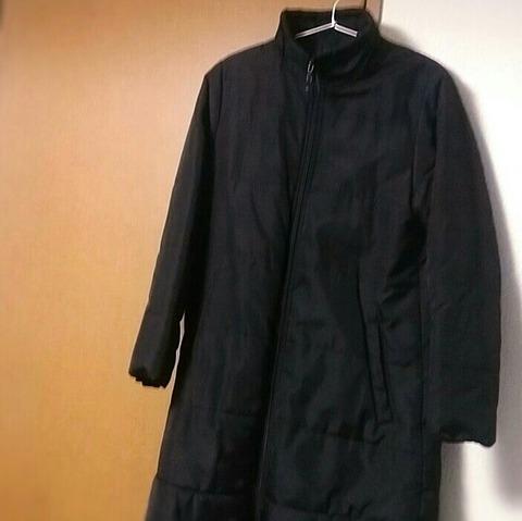 冬服:黒いシンプルなダウンコート1