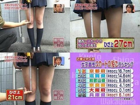 京都の女子高生のスカート 画像