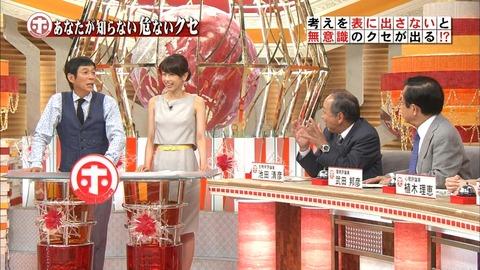 加藤綾子アナがバラエティ番組にノーブラで47