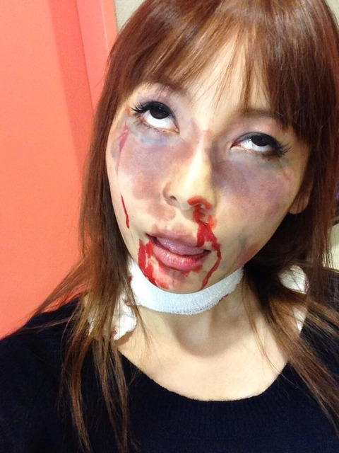 【画像13枚】中川翔子さんのゾンビメイクがリアル過ぎてヤバイ
