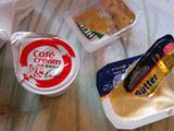 私はトーストにバターとジャムのつけて食べるのだ。
