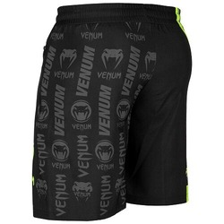 Logos Training Shorts blackneoyellow3