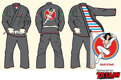 Tatami 限定柔術衣 オリジナルピンナップ