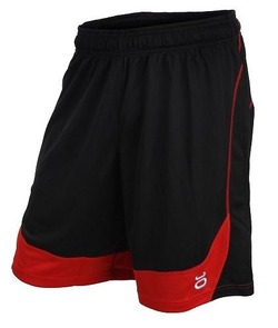 jaco Twisted Mock Mesh Shorts (BlackRed)1