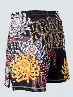 MANTO X Krazy Bee fight shorts DRAGON black 2