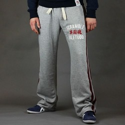 Relax-a-tron Jogging Bottoms - Grey Burgundy 1