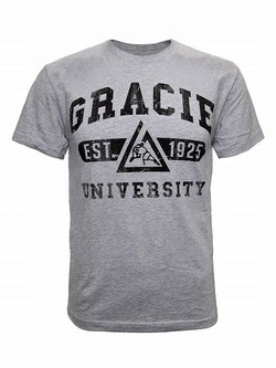 Gracie University tee gray1