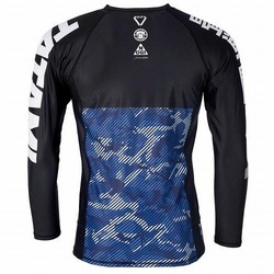 Essential Camo Long Sleeve Rash Guard blue3