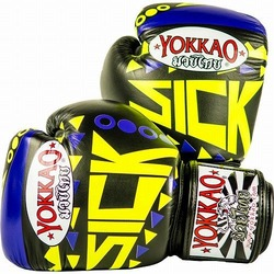 Sick Muay Thai Boxing Gloves VioletYellow1