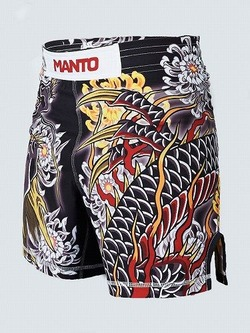 MANTO X Krazy Bee fight shorts DRAGON black 1
