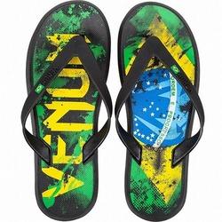 Sandals Brazilian Flag  Green Yellow Blue 1