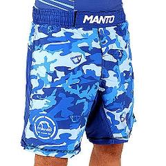 MANTO fight shorts CAMO blue1