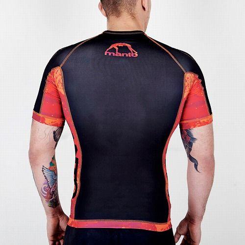 short sleeve rashguard LAVA black2