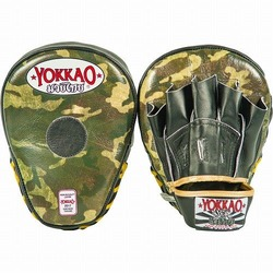 YOKKAO Curved Focus Mitts Green Army 1