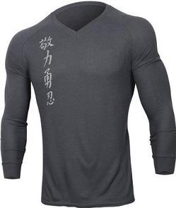 jaco kanji 2 v-neck thermal grey