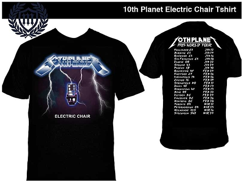 10th Planet Tシャツ Electric Chair 黒