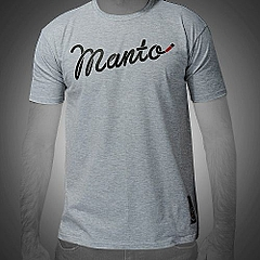 MANTO tshirt BLACK BELT melange1