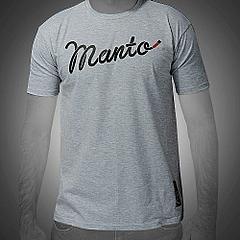 MANTO tshirt BLACK BELT melange1
