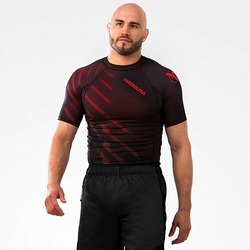 Metaru Rash Guard SS red1