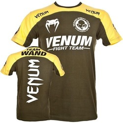 T-shirt Venum Team Wanderlei Green Yellow2